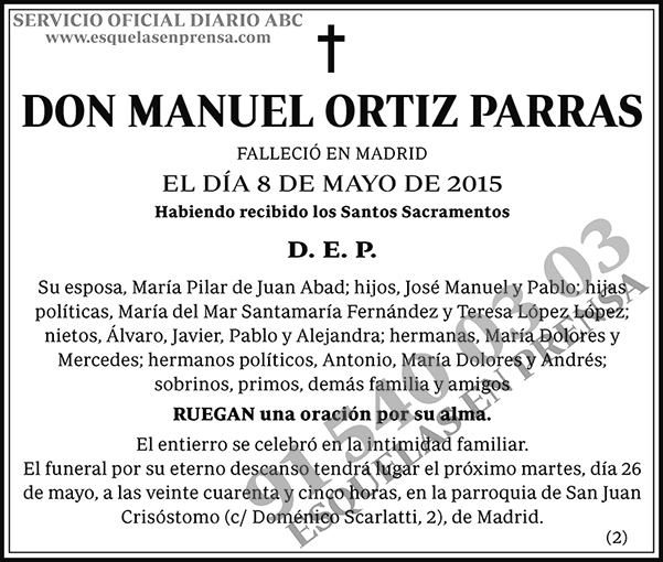 Manuel Ortiz Parras